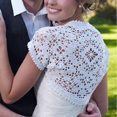 Bridal Shrug. Download this free pattern at allcrochetpatterns.net