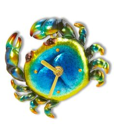 Look at this Blue Crab Magnetic Clock on #zulily today!
