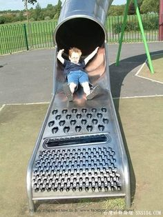 """what's that bad little kids, you want to visit the park slide?!"" bwahahaha!!"
