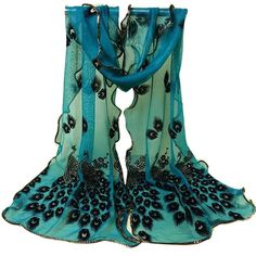 new deals! Shop our best value Peacock Print Scarf on AliExpress. Check out more Peacock Print Scarf items in Apparel Accessories, Home & Garden, Women's Clothing, Jewelry & Accessories! And don't miss out on limited deals on Peacock Print Scarf! Lace Scarf, Chiffon Scarf, Print Chiffon, Scarf Wrap, Sheer Chiffon, Teal Scarf, Scarf Hair, Floral Scarf, Peacock Print