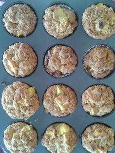 Muffins de pessego