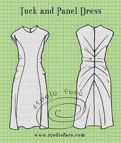 well-suited: Pattern Puzzle - Tuck and Panel Dress