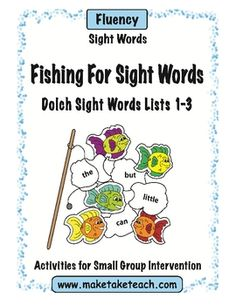 FREE sight word fish for Dolch sight word lists 1-3!  Make your own sight word fishing game.