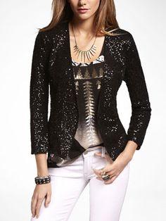 Sequin Jacket, $118 at Express.
