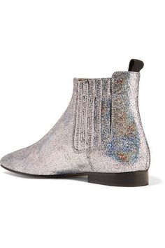 Joseph - Glittered Leather Chelsea Boots - Silver - IT36.5