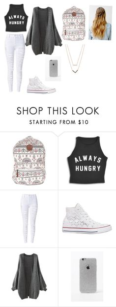 """One item tag"" by menna121 ❤ liked on Polyvore featuring Billabong, Converse, LA: Hearts, Michael Kors and Mennasfashion"