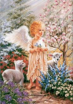 Dona Gelsinger - angel & lambs