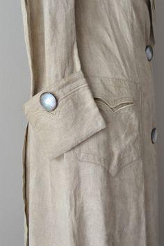 Edwardian linen coat / 1910s duster coat / Manor by DearGolden poche et rappel sur les manches