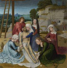 DAVID Gerard - Flemish (Oudewater 1460-1523 Bruges) ~ Lamentation 1515-23