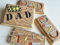 This is one of two cookie designs that I made for Father's Day this year. You can see the tutorial for the other one here.For products used in this and other tutorials, visit the recommended products page.These tiny tools are made entirely out of roy
