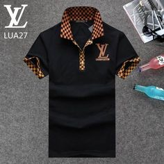 Louis Vuitton POLO shirts men-LV61828A