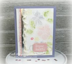#GDP055 Bonjour, Beautiful.  Stampin' Up! Penned & Painted, Happy Happenings
