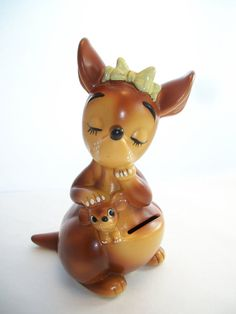 Adorable Vintage Lefton's Kangaroo Ceramic by DebscountryVintage, $52.00
