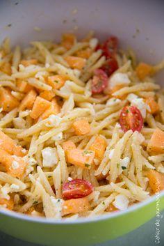 Salade de pâtes Melon Feta | Cahier de gourmandises