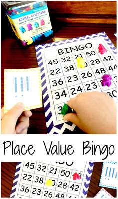This free place value bingo will help you children develop number sense as they identify numbers 20 - 50 using base ten blocks, tally marks, and more. Math Bingo, Fun Math, Math Games, Math Activities, Bingo Games, Maths Resources, Math Strategies, Number Games, Math Classroom