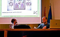 """Agradecimento a los asistentes a la charla """"Ciencias de la vida entre vinetas"""". Foto: Lidia Fernández. #XIXSalónDelCómicGr #CEntreViñetas"""