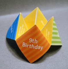 Kids Birthday Invitation Cootie Catcher  //       Einladung  #Kindergeburtstag #Geburtstagseinladung