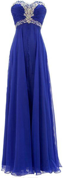 Meier Women's Strapless Chiffon A Line Gown in Royal