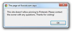 Pinterest Opt-Out: New code lets websites opt-out of Pinterest.  If you see a screen like the image above it means the site owner has opted out of Pinterest.  Read the whole article at LLSocial.com