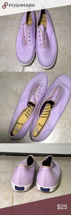 KEDS X GAP Slip On Shoes NWOT. NEVER WORN.  KEDS X GAP lavender slip ons.  SIZE 10 Keds Shoes Sneakers