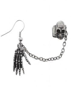 Fad Treasures Skeleton Hand Ear Cuff - Buy Online at Grindstore.com
