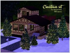 Christmas set by Severinka for the Sims 3. Happy Holidays!