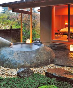 A Traditional Japanese Ryokan Experience; I'd have died and gone to heaven in a bath like that!