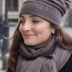 Lovely new melange colours available for Helsinki cashmere scarf and beanie: melange brown, grey and light grey. www.balmuir.com/shop