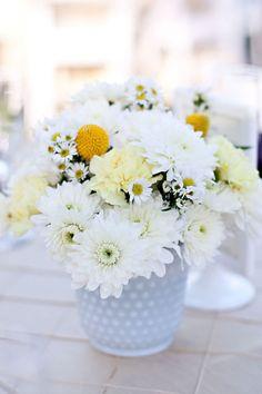 Centerpiece Decorations, Floral Centerpieces, Floral Arrangements, Daisy Love, Milk Glass Vase, Vineyard Wedding, California Wedding, Pretty Flowers, Wedding Designs