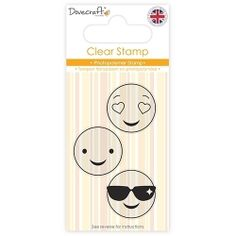 DCSTP085 Dovecraft Clear Stamp - Smiley Stamp- Shades