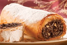 Walnut and chocolate roll Chocolate Roll, Sweet Bar, Small Cake, Greek Recipes, Cheesesteak, Tray Bakes, Allrecipes, Tart, Recipies