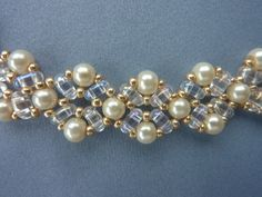 FREE beading pattern for beautiful pearl necklace using 4mm pearls… ~ Seed Bead Tutorials