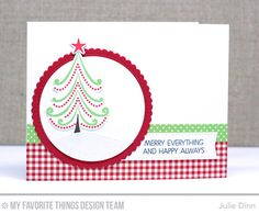 Oh Christmas Trees Stamp Set and Die-namics, Merry Everything Stamp Set, Stitched Rectangle Scallop Edge Frames Die-namics, Stitched Snow Drifts Die-namics, Blueprints 20 Die-namics - Julie Dinn  #mftstamps