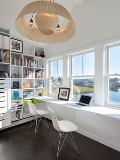 You won't mind getting work done with a home office like one of these. See these 20 inspiring photos for the best decorating and office design ideas for your home office, office furniture, home office ideas Home Office Layouts, Home Office Organization, Home Office Design, Home Interior Design, Organization Ideas, Office Designs, Office Style, Office Storage, Bedroom Storage