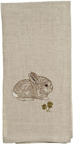 Coral and Tusk - bunny with clover tea towel