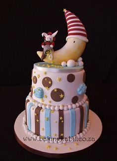 Moon Baby Shower cake by BakingHabits, via Flickr