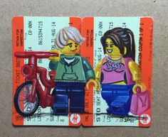 """""""First Date"""" oils on used train tickets"""