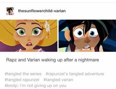 Tangled Tv Show, Tangled Series, Disney Tangled, Disney Fun, Disney Pixar, Rapunzel Funny, Tangled Quotes, Disney Memes, Star Vs The Forces Of Evil