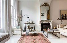 vintage modern living room / @sfgirlbybay
