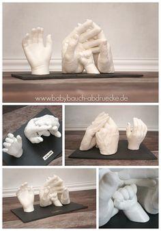 3D - Hand casting of a family. By Julia Schulze, www.babybauch-abdruecke.de