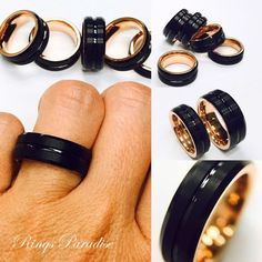 High Quality in Style Women's and Men's Tungsten RingsPersonalized Tungsten Carbide Black IP Rose Gold Plated Men's Wedding Band- 8mmSpecification Tungsten Carbide Wedding Bands Item Number 004Engraving:If you want your personal note to be engraved on the ring you are ordering, please let me know when you place an order in the note and put your personal text in the quote marks. Up to 15 characteristics are FREE of cost.Discover for yourself unique and masculine qualities of Tungsten...