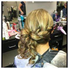#updo #bride #prom # bridesmaid #hairstyles #braid #curled #bridalhair @glamsalonde