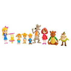 Goldie and Bear Fairy Tale Forest Friends PVC Action Figures Dolls Toys 9pcs kid