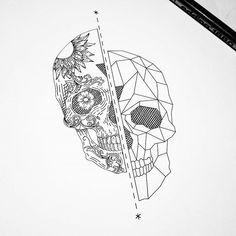 Image result for geometric sugar skull