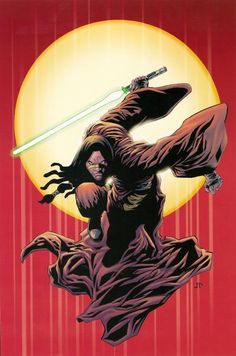Quinlan Vos on cover art of Star Wars: Republic 21: Twilight, Part 3 by Jan Duursema
