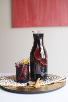 Autumn bourbon sangria