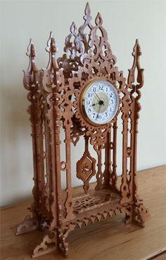 Arcade clock, scroll saw fretwork pattern