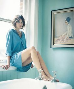 APC A.C Sailor Dress - Large - worn by Alexa Chung - highly coveted dress! Alexa Chung Style, Alexa Chung Hair, Twiggy, Charlotte Rampling, Sailor Dress, Mannequins, Girl Crushes, Her Hair, Style Icons