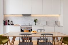 This listed crescent in Barnsbury, Islington was built in 1860. The project reconfigures a first floor flat within a building that was converted from a house in the 1970's. The flat was altered to provide an open plan kitchen in the living room, allowing the...