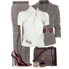 Burgundy/gray
